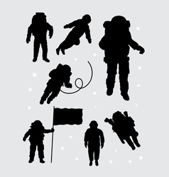 Astronaut silhouettes vector