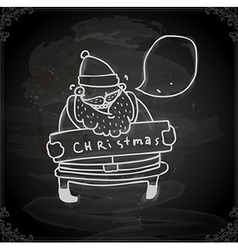 Hand drawn father christmas vector