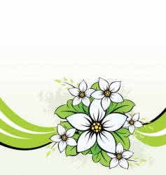 flower with wave vector image