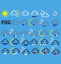 Weather map symbols vector image