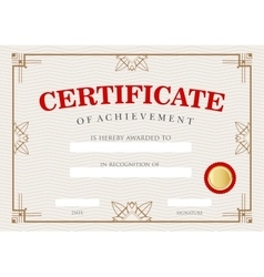 Diploma certificate of achievement vector