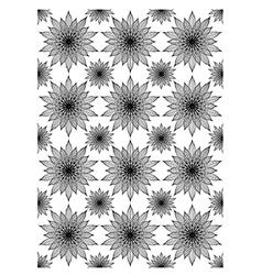 Floral block print vector image