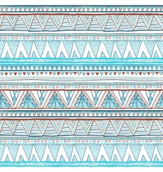 Abstract hand-drawn ethnic pattern tribal vector