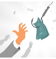 Bait capitalism vector