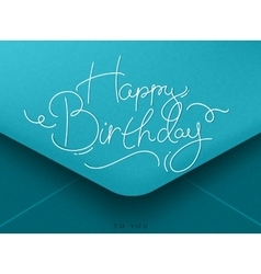 Birthday envelope blue vector