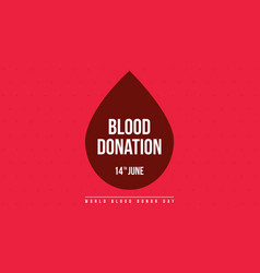 Blood donation day style banner collection vector
