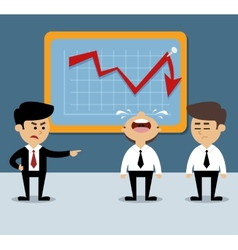 Business chart decrease vector image