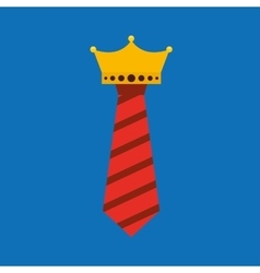 Celebration happy fathers day tie hanging vector
