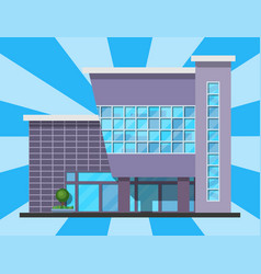 City building modern tower office architecture vector