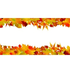 Colorful autumn border made from leaves eps 8 vector