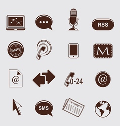 Communication icons vector image