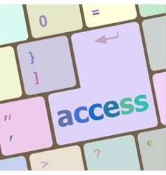 Computer keyboard pc with access text vector