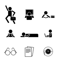 Daily life icons vector