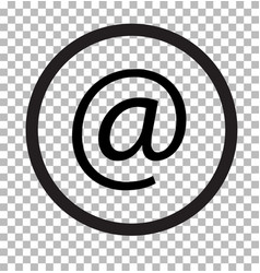 Email isolated on transparent email web icon flat vector