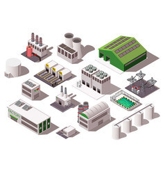 Factory isometric set vector