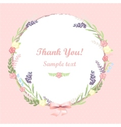 floral frame card design vector image