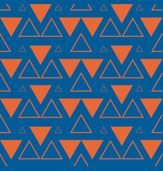 geometric triangles pattern vector image vector image