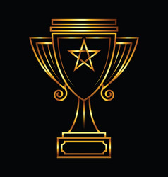 gold trophy vector image