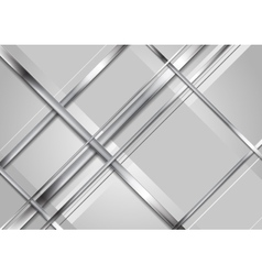Grey abstract technology metallic background vector