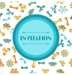 Invitation card with abstract various bows and vector