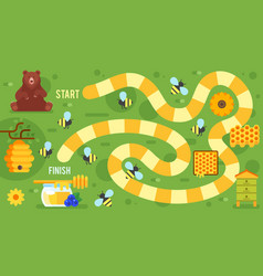 kids honey board game vector image vector image