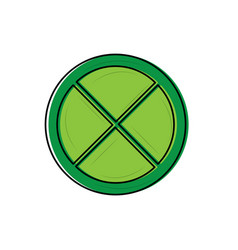 Lime or lemon wedge icon image vector