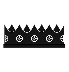 little crown icon simple style vector image vector image