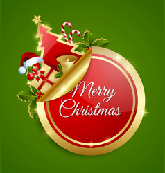 Merry Christmas sticker vector image vector image