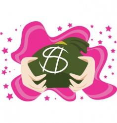 moneybags vector image vector image