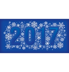 New year banner with snowflakes vector image