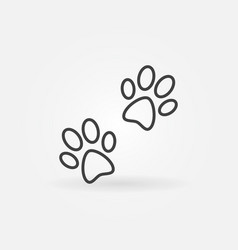 pair of paw prints icon vector image vector image