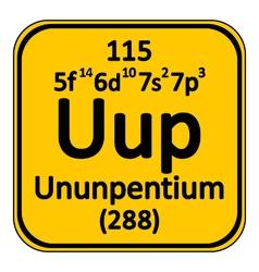 Periodic table element ununpentium icon vector