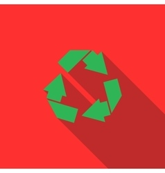 Recycle simbol icon flat style vector image