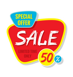 sale banner template special offer vector image vector image