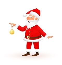 Santa Claus flat character isolated on white vector image vector image