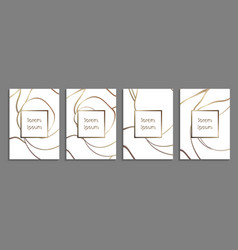 set of luxury cover templates cover design vector image vector image