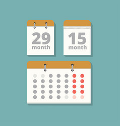 Set wall calendars in flat style vector