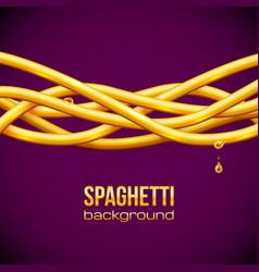 Spaghetti background vector