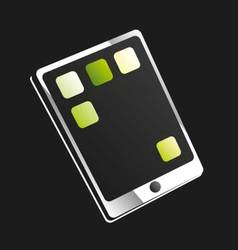 Tablet or touchscreen mobile phone vector image
