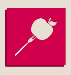 Vegetarian food sign vector