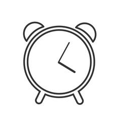 web line icon alarm clock vector image vector image