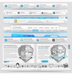 Website navigation vector image