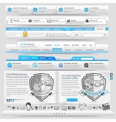 Website navigation vector