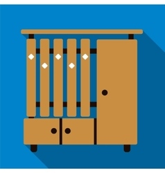 Cupboard flat icon vector