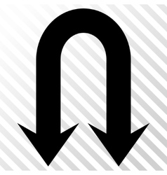 Double back arrow icon vector