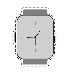 Classic analog watch line vector