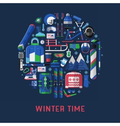 Winter Time Card Background vector image