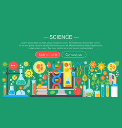 Flat design concept of science horizontal banner vector