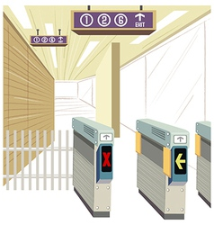 Underground train station vector