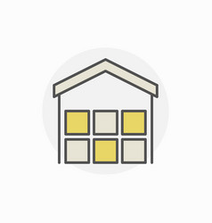 Freight warehouse icon vector